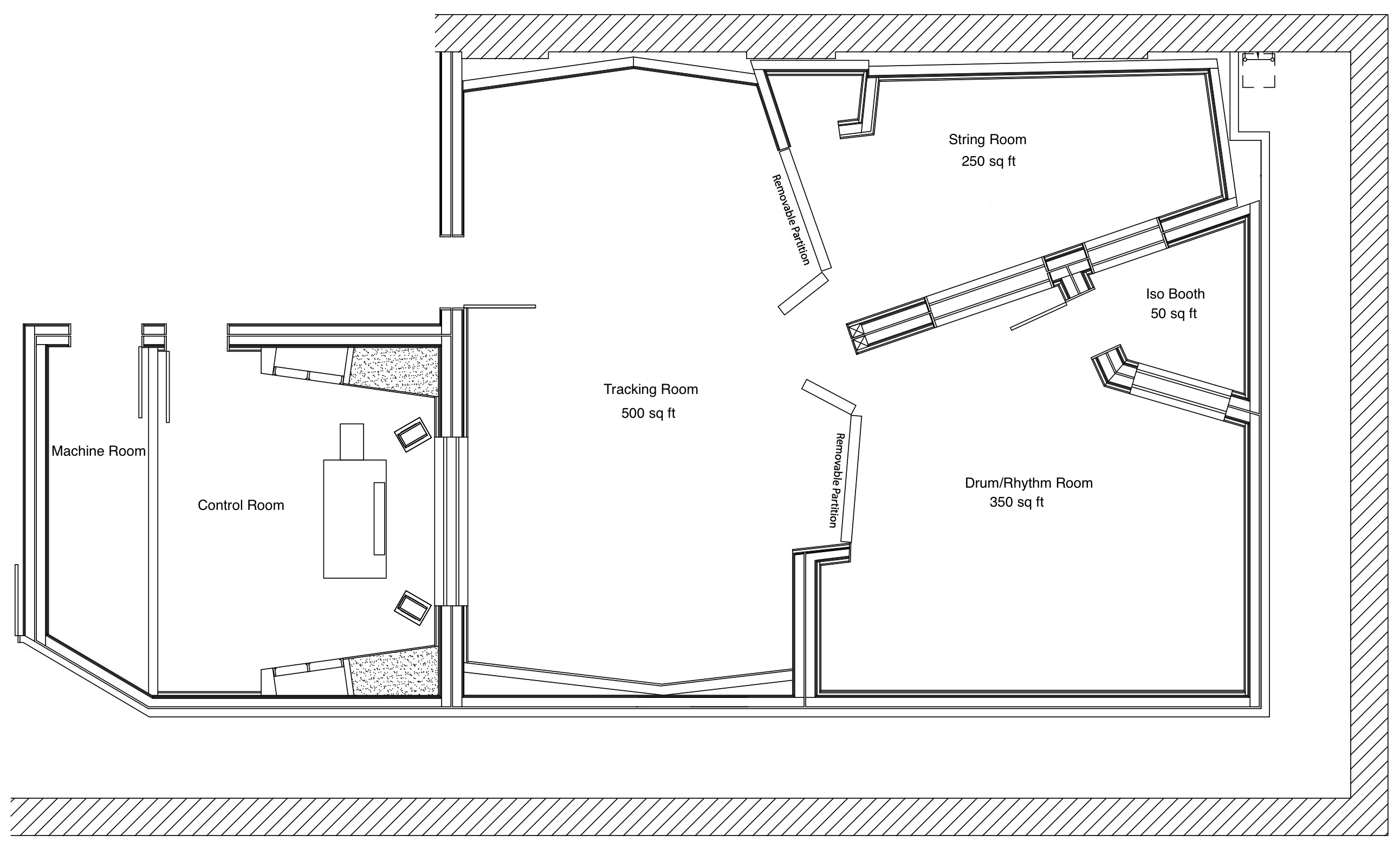 100 500 Sq Ft Studio Floor Plan Availability For